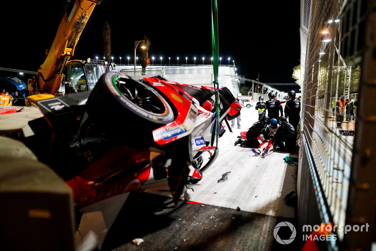 El accidente de Alex Lynn, Mahindra Racing, M7Electro