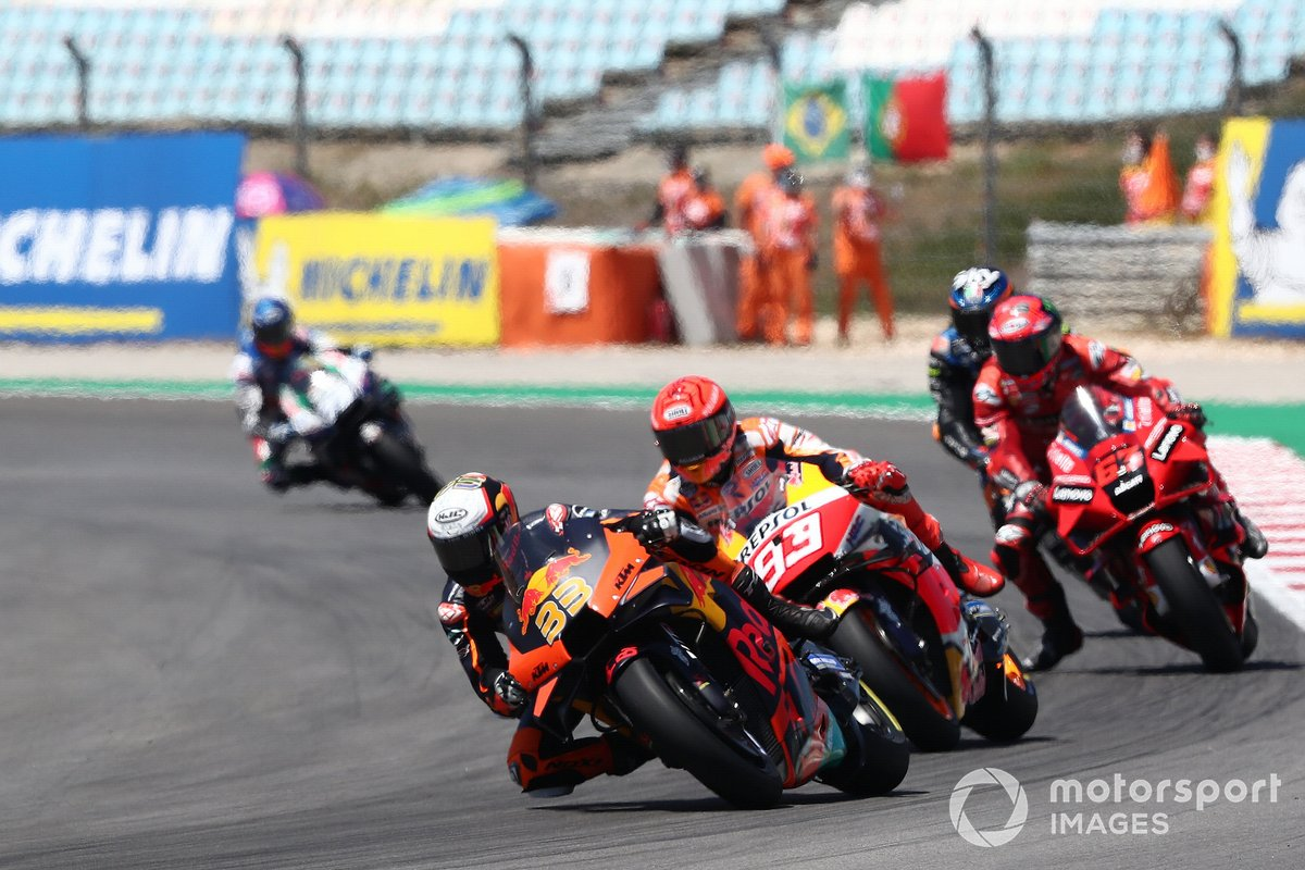 Brad Binder, Red Bull KTM Factory Racing Marc Marquez, Repsol Honda Team