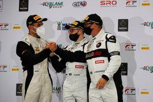Podium: #9 Lechner Racing Porsche 911 GT3 R: Saul Hack, Andre Bezuidenhout, Dylan Pereira