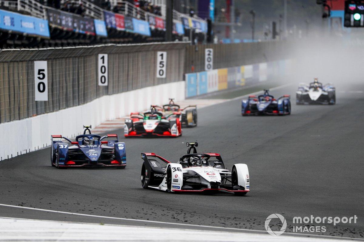 Andre Lotterer, Porsche, Porsche 99X Electric, Nick Cassidy, Envision Virgin Racing, Audi e-tron FE07, Rene Rast, Audi Sport ABT Schaeffler, Audi e-tron FE07