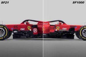 Vergleich: Ferrari SF21 (2021) vs. SF1000 (2020)