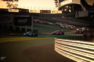 Bugatti's Veyron in Gran Turismo Sport tijdens KNAF Digital Winter Cup