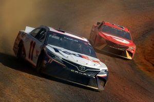 Denny Hamlin, Joe Gibbs Racing, Toyota Camry FedEx Freight and Bubba Wallace, 23XI Racing, Toyota Camry DoorDash