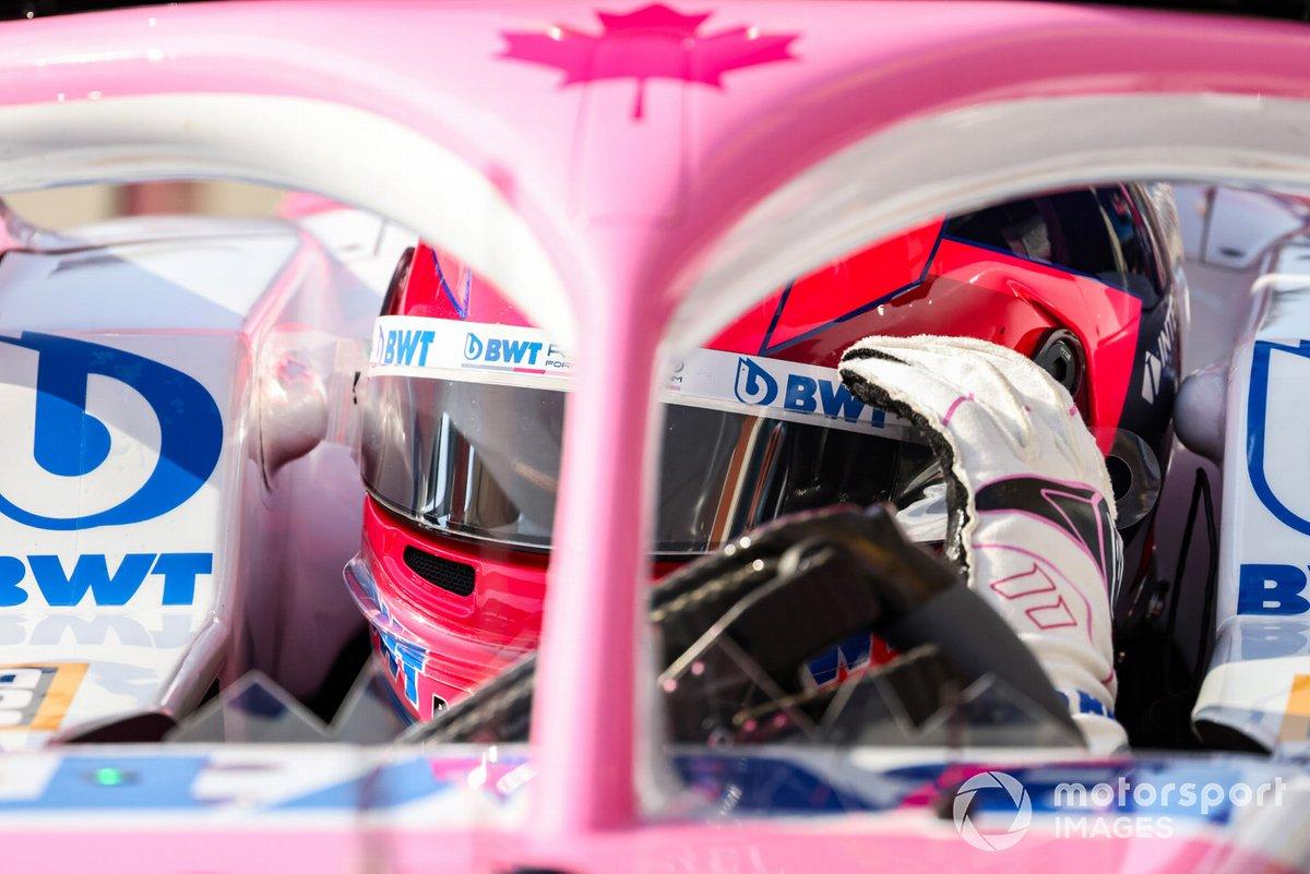 Sergio Perez, Racing Point, kokpit