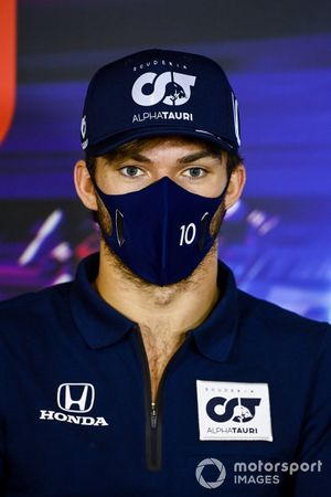 Pierre Gasly, AlphaTauri in the press conference