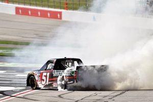 Kyle Busch, Kyle Busch Motorsports, Toyota Tundra Cessna celebrates his win
