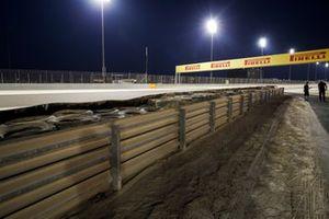 إعادة بناء حائط الإطار بعد حادث رومان غروجان، هاس