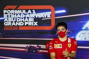 Charles Leclerc, Ferrari in the press conference