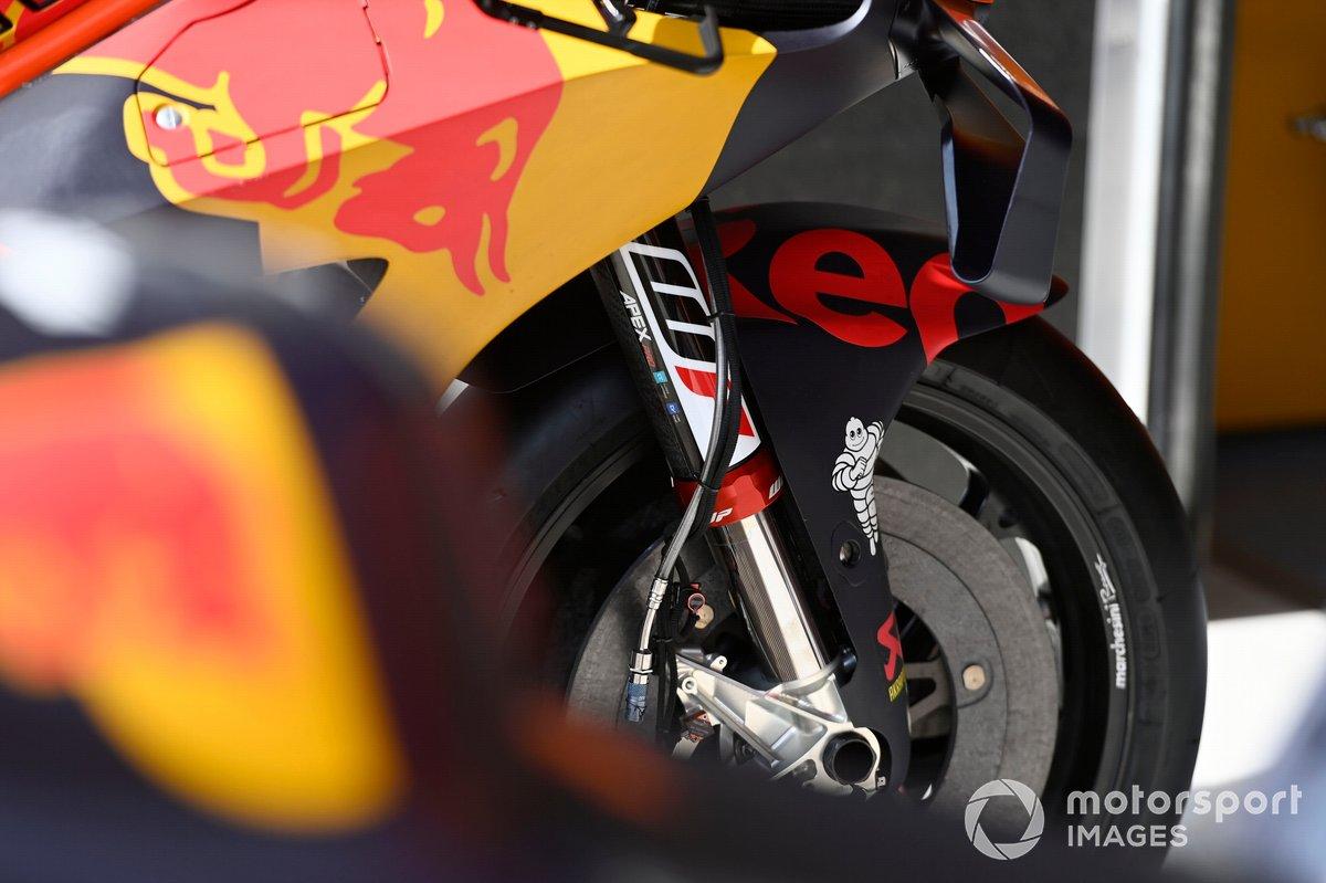 Detalle de la moto de Red Bull KTM Factory Racing