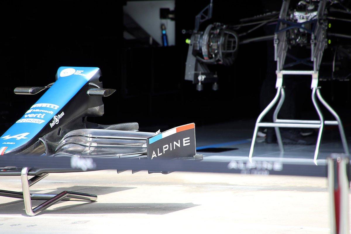 Alerón delantero del Alpine A521