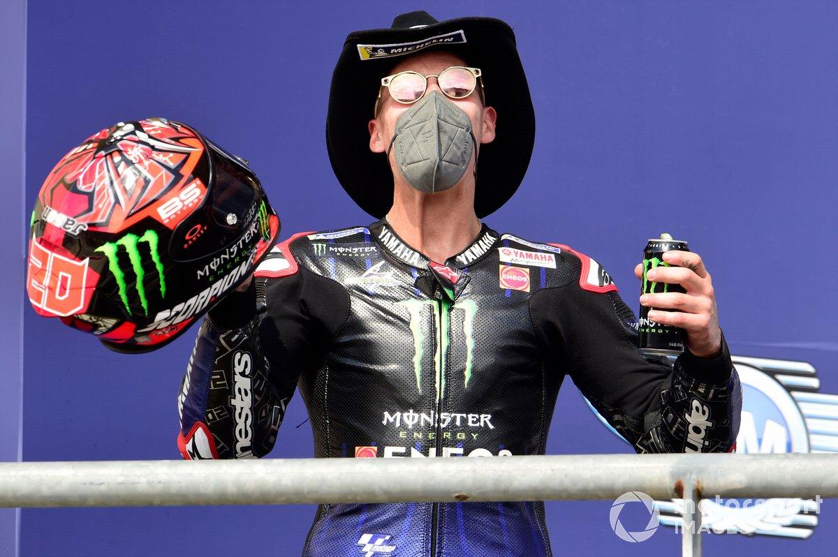 Podio: segundo lugar Fabio Quartararo, Yamaha Factory Racing