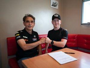 Joel Kelso and Alain Bronec, Team Owner CIP Green Power