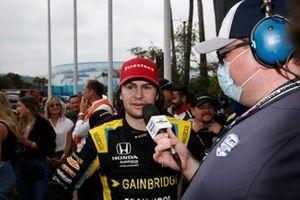 Le vainqueur Colton Herta, Andretti Autosport w/ Curb-Agajanian Honda en interview