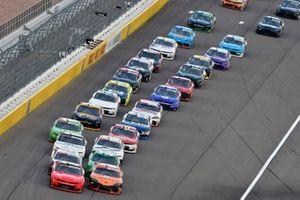 Justin Allgaier, JR Motorsports, Chevrolet Camaro BRANDT and Daniel Hemric, Joe Gibbs Racing, Toyota Supra Poppy Bank