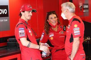 Francesco Bagnaia, Ducati Team, Davide Tardozzi, Team manager Ducati Team