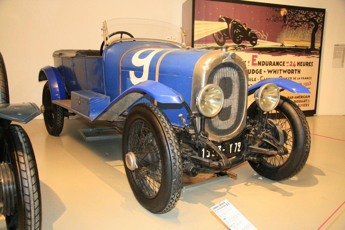 1923年:シュナール・エ・ワルケールのU3-15CVトルペード・スポール(Chenard et Walcker U3 - 15CV Torpedo Sport)