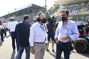 Peter Sauber op de grid
