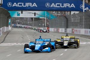 Alex Palou, Chip Ganassi Racing Honda, Colton Herta, Andretti Autosport w/ Curb-Agajanian Honda