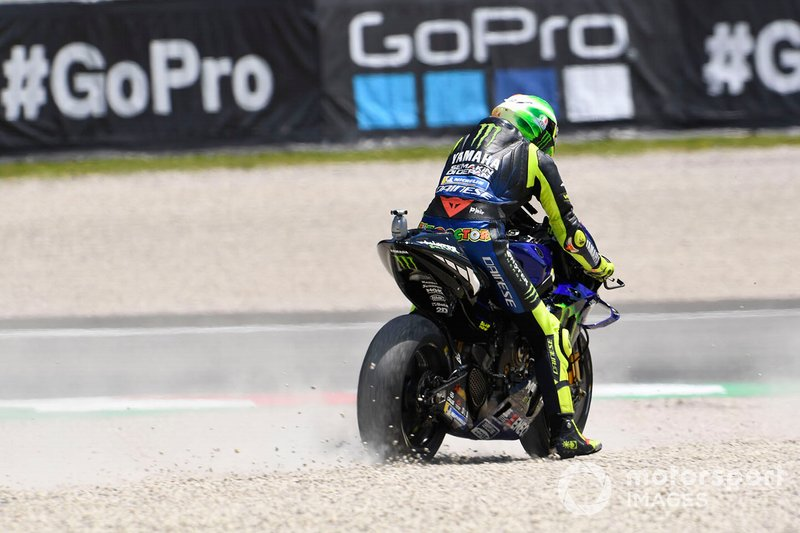 Ausritt: Valentino Rossi, Yamaha Factory Racing