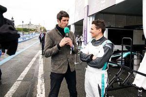 Archie Hamilton, Jaguar VIP car, is interviewed by TV Presenter Vernon Kay