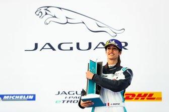 Célia Martin, Viessman Jaguar eTROPHY Team Germany, 2nd position, on the podium