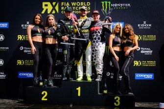 Podium: winner Timur Timerzyanov, GRX Taneco, second place Andreas Bakkerud, RX Cartel, third place JoniWiman, GRX Taneco