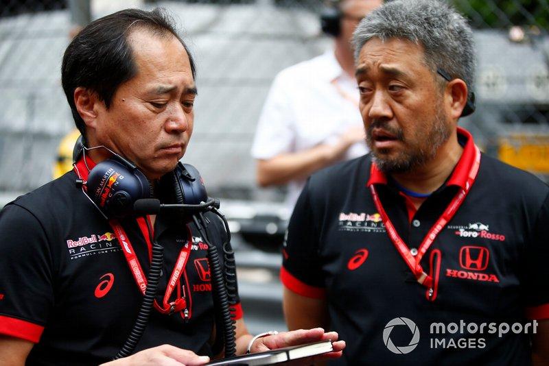 Toyoharu Tanabe, F1 Teknik Dİrektör, Honda ve Masashi Yamamoto, Genel Müdür, Honda Motorsport