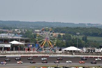 Jeffrey Earnhardt, Joe Gibbs Racing, Toyota Supra iK9 and John Hunter Nemechek, GMS Racing, Chevrolet Camaro Fire Alarm Services, INC