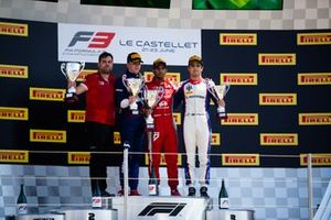 Jehan Daruvala, PREMA Racing Robert Shwartzman, PREMA Racing and Pedro Piquet, Trident