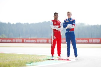 Jehan Daruvala, PREMA Racing and Robert Shwartzman, PREMA Racing