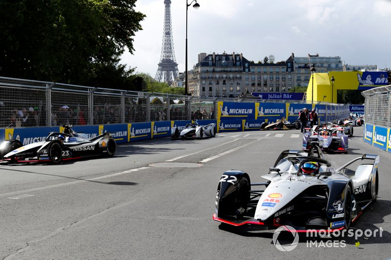 Startaufstellung zum ePrix Paris der Formel E 2018/19