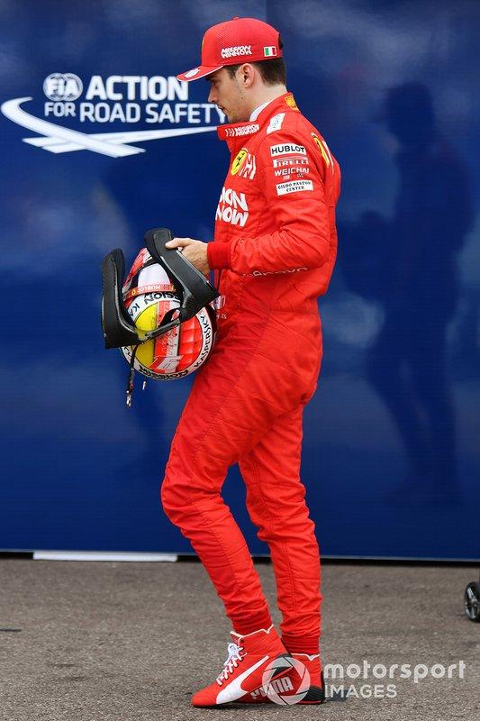 Charles Leclerc, Ferrari, dopo l'eliminazione in Q1