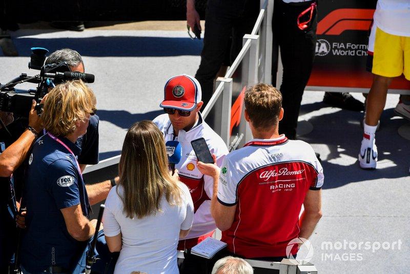 Kimi Raikkonen, Alfa Romeo Racing, parle à la presse