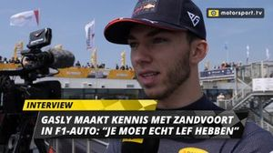Pierre Gasly interview Jumbo Racedagen