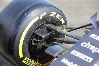 Red Bull Racing RB15 front wheel detail