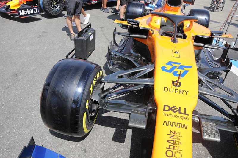 A frente do carro de Carlos Sainz Jr., da McLaren
