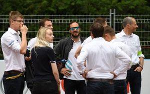 Gary Paffett, HWA Racelab, walks the track