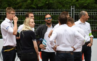 Gary Paffett, HWA Racelab, walks the track