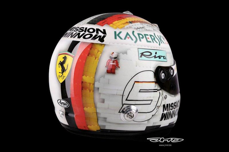 Helm van Sebastian Vettel, Ferrari, Spanje