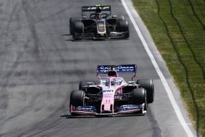 Sergio Perez, Racing Point RP19, Kevin Magnussen, Haas VF-19