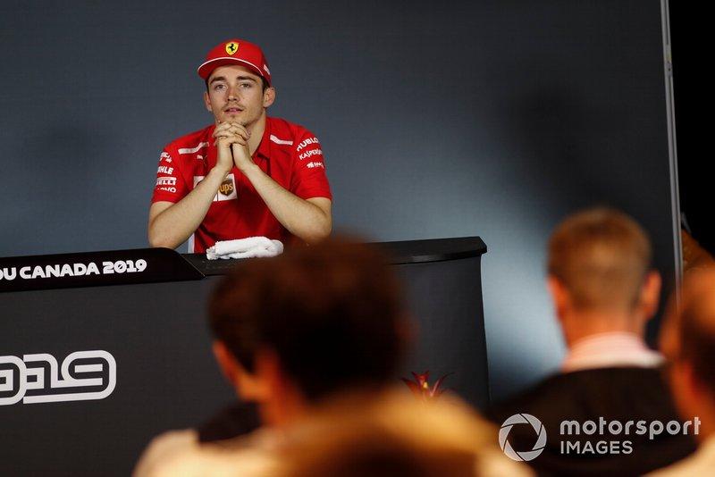 Charles Leclerc, Ferrari alla conferenza stampa