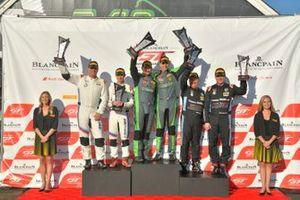 #47, Porsche 718 Cayman CS MR, Matt Travis and Jason Hart, #19 BMW M4 GT4 Sean Quinlan and Gregory Liefooghe, #92 BMW M4 GT4 Chris Ohmacht