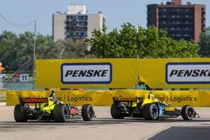 Zach Veach, Andretti Autosport Honda, Sebastien Bourdais, Dale Coyne Racing with Vasser-Sullivan Honda