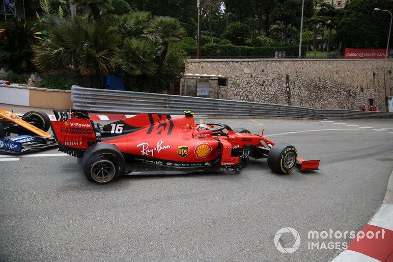 Charles Leclerc, Ferrari SF90, Lando Norris, McLaren MCL34