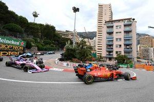 Charles Leclerc, Ferrari SF90, Lance Stroll, Racing Point RP19 y Kimi Raikkonen, Alfa Romeo Racing C38