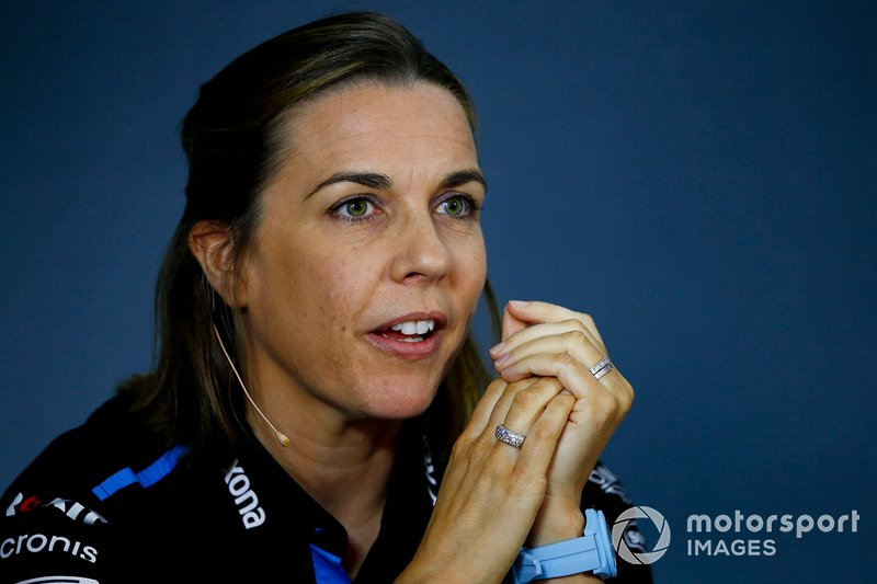 Claire Williams, Subdirectora del equipo, Williams Racing, en la Conferencia de Prensa de los directores del equipo