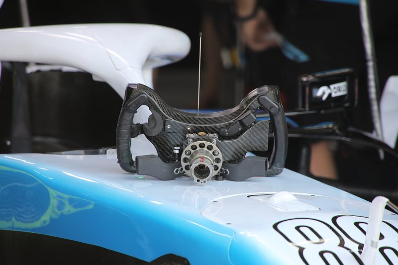 Williams Racing FW42 steering wheel detail