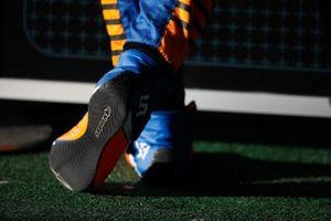 The boots of Lando Norris, McLaren