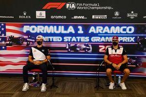 Pierre Gasly, AlphaTauri and Antonio Giovinazzi, Alfa Romeo Racing in the drivers press conference