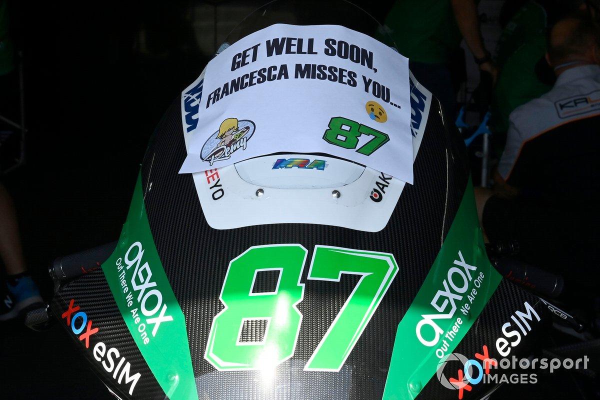 Remy Gardner, SAG Racing Team message